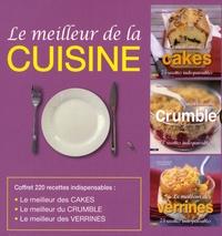 Fanny Matagne et Virginie Boudsocq - Le meilleur de la cuisine, coffret en 3 volumes - Le meilleur des verrines ; Le meilleur du crumble ; Le meilleur des cakes.