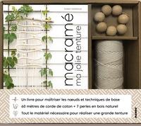 Fanny Zedenius - Macramé Ma jolie tenture - Avec 60 mètres de corde de coton + 7 perles en bois naturel.