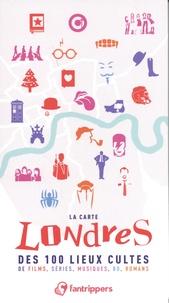 Nicolas Albert - La carte Londres des 100 lieux cultes de films, séries, musiques, BD, romans.
