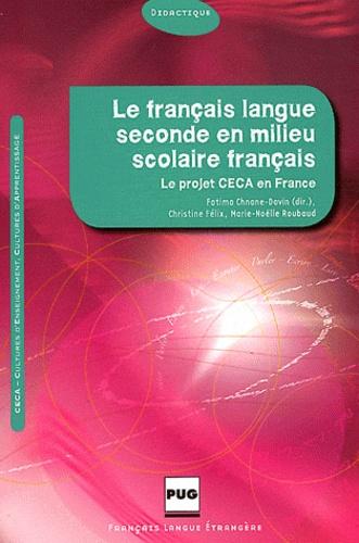 Le Francais Langue Seconde En Milieu Scolaire Francais Culture D Enseignement Et Cultures D Apprentissage