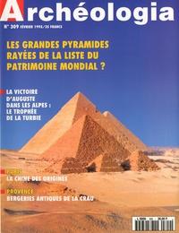 Régine de Plinval de Guillebon - Archéologia N° 309, Février 1995 : Les grandes pyramides.