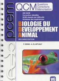Faustine Denis et A. El Mitualy - QCM Biologie du Développement Animal.