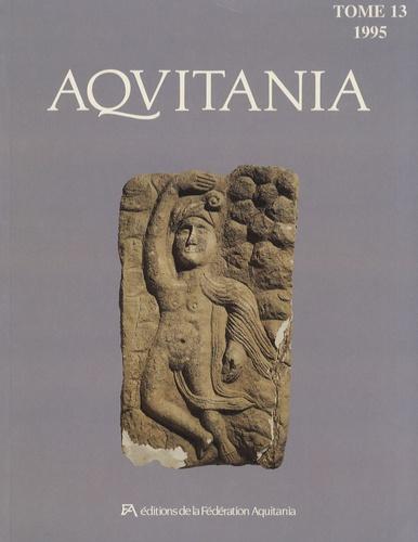 André Coffyn - Aquitania N° 13/1995 : .