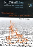 Fédération des MJC Bretagne - Les Z'ébullitions - 4 et 5 mars 2004 - L'animation : quel sens ? quel avenir ?.
