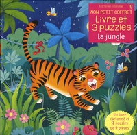 Federica Iossa et Sam Taplin - La jungle - Avec 1 livre cartonné et 3 puzzles de 9 pièces.