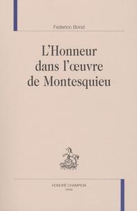 Federico Bonzi - L'Honneur dans l'oeuvre de Montesquieu.