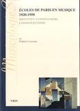 Federico Lazzaro - Ecoles de Paris en musique 1920-1950 - Identités, nationalisme, cosmopolistisme.