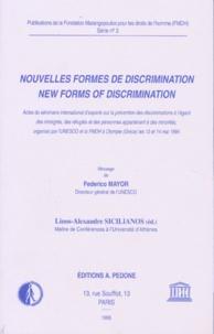 Federico Mayor - Nouvelles formes de discrimination - Actes du séminaire international d'experts sur le prévention des discriminations à l'égard des immigrés, des réfugiés et des personnes appartenant à des minorités, organisé par l'Unesco et la FMDH à Olympie (Grèce) les 13 et 14 mai 1994.