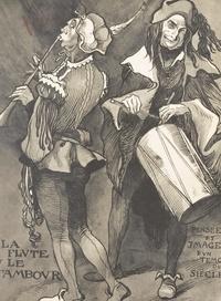 Ferdinand Bac - La flûte et le tambour - Pensées et images d'un témoin du siècle. Édition de luxe illustrée de 90 planches hors texte.