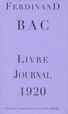 Ferdinand Bac - Livre-Journal 1920.