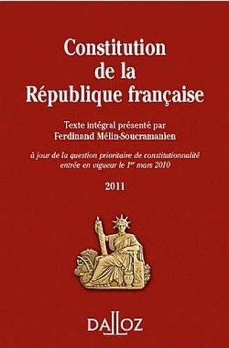 Ferdinand Mélin-Soucramanien - Constitution de la République française - Texte intégral.