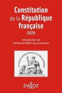 Ferdinand Mélin-Soucramanien - Constitution de la République française. 2020 - 17e éd..