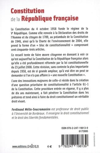 Constitution de la République française  Edition 2021
