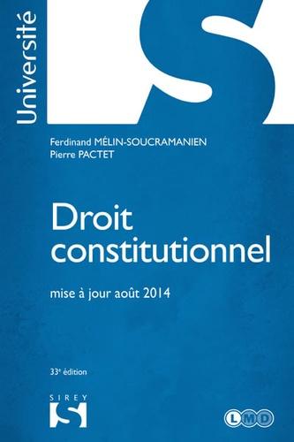 Droit constitutionnel 33e édition