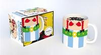 """Fern Green - Le gros mug Obélix - Coffret avec 1 mug collector et 1 livre de recettes de soupes """"potions""""."""