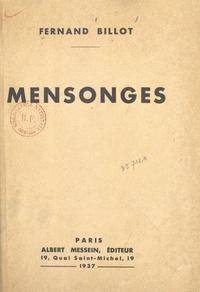 Fernand Billot - Mensonges.