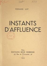 Fernand Lot - Instants d'affluence.