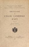 Fernand Sauve - Obituaire de l'église cathédrale d'Apt.