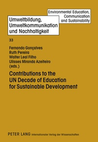 Fernando j. Gonçalves et Ruth Pereira - Contributions to the UN Decade of Education for Sustainable Development.