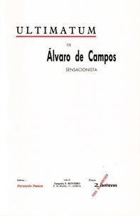 Fernando Pessoa - Ultimatum.