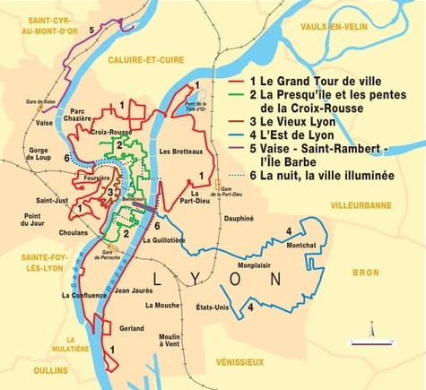 Lyon... à pied. Des itinéraires insolites à découvrir