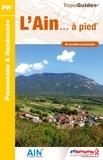 FFRP - L'Ain à pied - 46 promenades & randonnées.