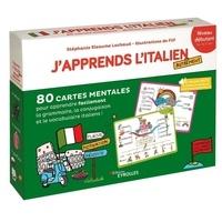 Filf et Lachaud stéphanie Eleaume - J'apprends l'italien autrement - niveau débutant - 80 cartes mentales pour apprendre facilement la grammaire, la conjugaison et le vocabulaire italiens !.
