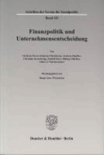 Finanzpolitik und Unternehmensentscheidung.
