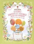 Fiona Patchett et Abigail Wheatley - Coffret biscuits et cookies pour les enfants - Un livre de recettes avec un rouleau à pâtisserie et des emportes-pièces.