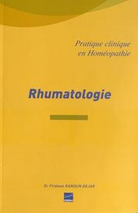 Firdaws Kanoun Bejar - Rhumatologie - La rhumatologie facile par homéopathie.