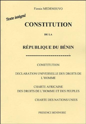 Firmin Médénouvo - Constitution de la République du Bénin.