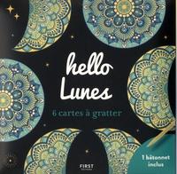 First - Hello Lunes - 6 cartes à gratter et un bâtonnet inclus.