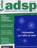 Marc Duriez et  Collectif - ADSP N° 48, septembre 200 : L'information sur l'offre de soins et la régulation du système de santé.