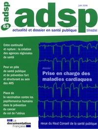 Yves Lecarpentier - ADSP N° 63, Juin 2008 : Prise en charge des maladies cardiaques.