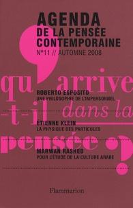 François Jullien et Pierre Chartier - Agenda de la pensée contemporaine N° 11, Automne 2008 : .