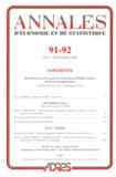 Bruno Crépon et Denis Fougère - Annales d'économie et de statistique N° 91-92, Juillet-Dé : Special Issue on Econometric Evaluation of Public Policies: Methods and Applications.