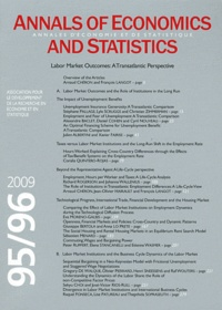 Robert Gary-Bobo - Annales d'économie et de statistique N° 95/96, Juillet-Dé : Labor Market Outcomes: A Transatlantic Perspective.