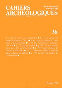 Yves Christe - Cahiers archéologiques N° 36/1988 : .