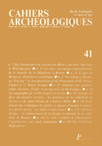 Yves Christe - Cahiers archéologiques N° 41/1993 : .