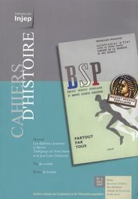 Henri Hutin et Jean-Louis Hiribarren - Cahiers d'Histoire N° 3, Décembre 2007 : Les diplômes Jeunesse et Sports.