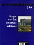 Benoît Ferrandon - Cahiers français N° 329 : Budget de l'Etat et finances publiques.
