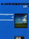 Christophe Demazière et Gilles Rotillon - Cahiers français N° 337, Mars-avril 2 : Developpement et environnement.