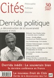 Charles Ramond et Guy Petitdemange - Cités N° 30, 2007 : Derrida politique - La déconstruction de la souveraineté (puissance et droit).