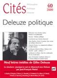 Yves Charles Zarka et Alain Badiou - Cités N° 40/2009 : Deleuze politique.