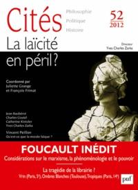 Juliette Grange et François Frimat - Cités N° 52/2012 : La laïcité en péril ?.