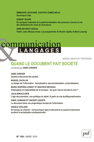 Collectif - Communication et Langages N°199, 2019 : .