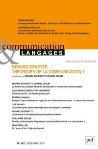 Michaël Bourgatte et Daniel Jacobi - Communication et Langages N° 202, décembre 201 : Gérard Genette, théoricien de la communication ?.