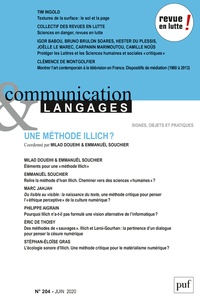 Gustavo Gomez-Mejia et Elsa Tadier - Communication et Langages N° 204, juin 2020 : .