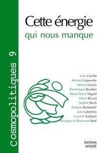 Dominique Boullier - Cosmopolitiques N° 9 : Cette énergie qui nous manque.