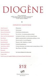 Gilles Tarabout et Marcus Franke - Diogène N° 212, Octobre-Déce : Conflits et constitutions.